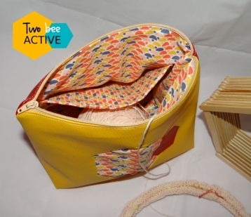 #bee DIY bag Gryffondord4