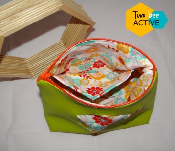 #bee DIY bag vert orange intérieur