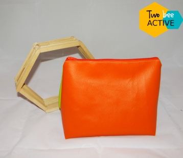 #bee DIY bag vert orange2