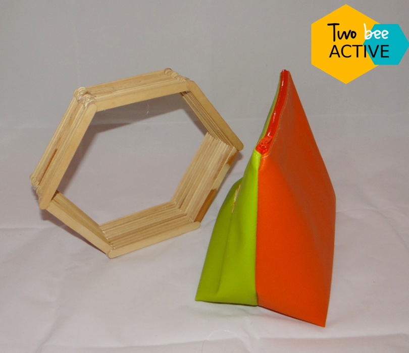 #bee DIY bag vert orange3