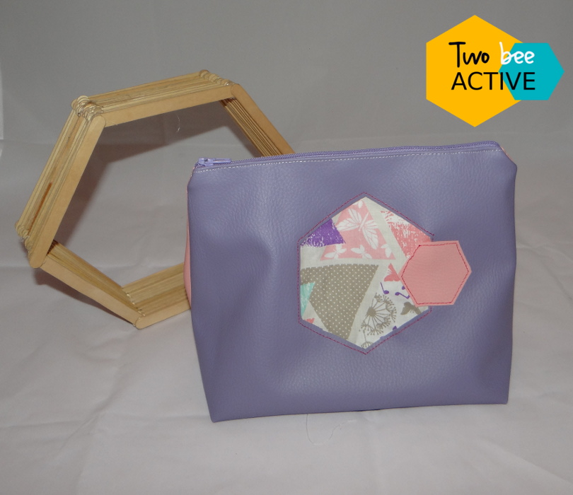 #bee DIY bag violet rose2