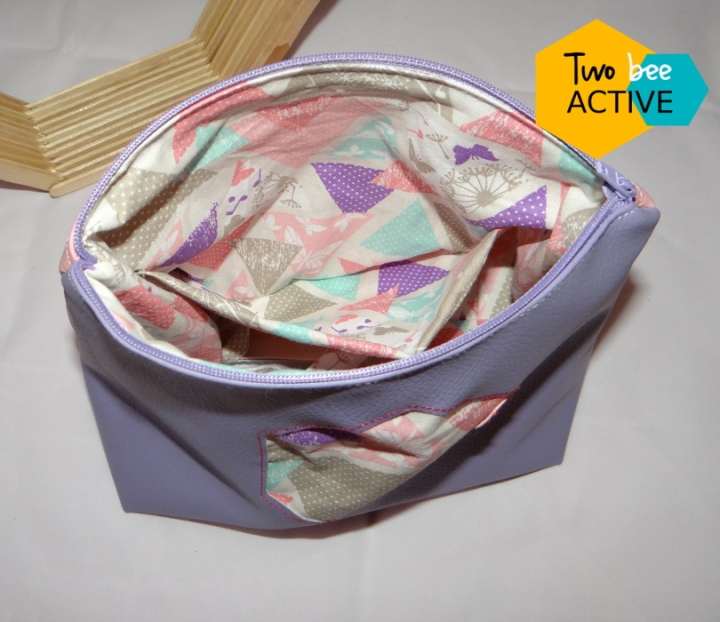 #bee DIY bag violet rose5