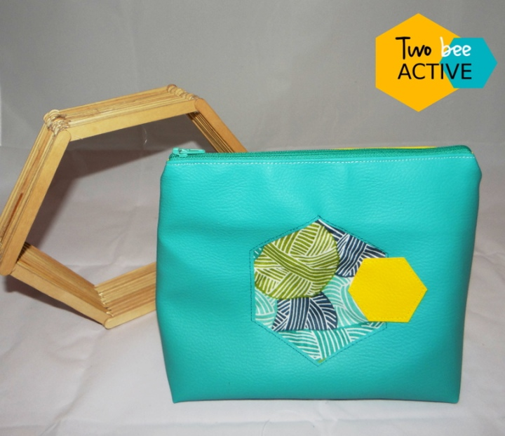#bee DIY bag violet turquoise jaue