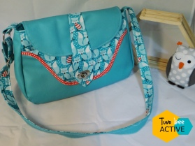 besace femme turquoise